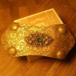 Circa 1900 LARGE VAUXHALL GLASS Stone Brooch